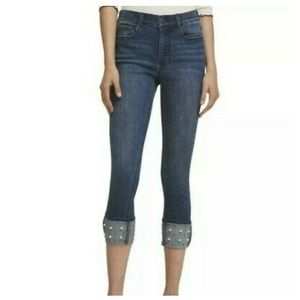 💥DKNY Blue Stretch Soho Boot Cut Mid Rise Jeans💥